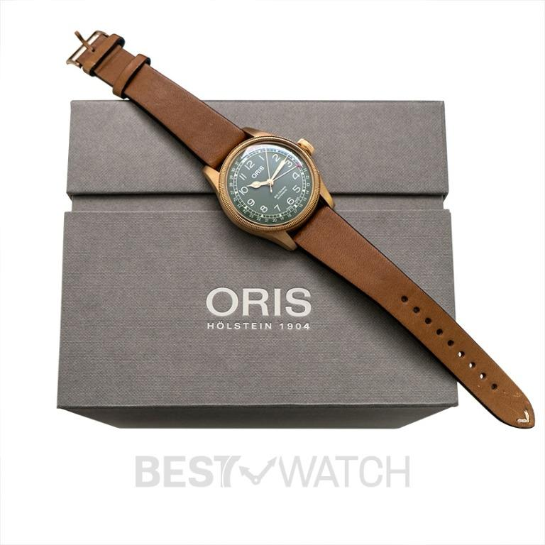 [NEW] Oris Big Crown Big Crown Pointer Date 80th Anniversary Edition Automatic Green Dial Men's Watch 01 754 7741 3167-07 5 20 58BR