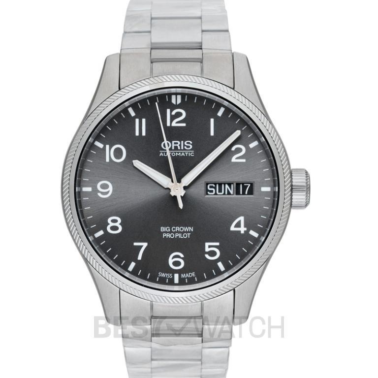 [NEW] Oris Big Crown ProPilot Big Day Date Automatic Grey Dial Bracelet Men's Watch 01 752 7698 4063-07 8 22 19