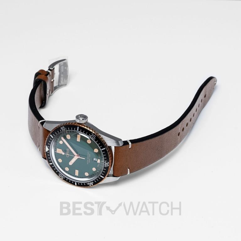 [NEW] Oris Divers Sixty-Five Automatic Green Dial Strap Men's Watch 01 733 7707 4357-07 5 20 45