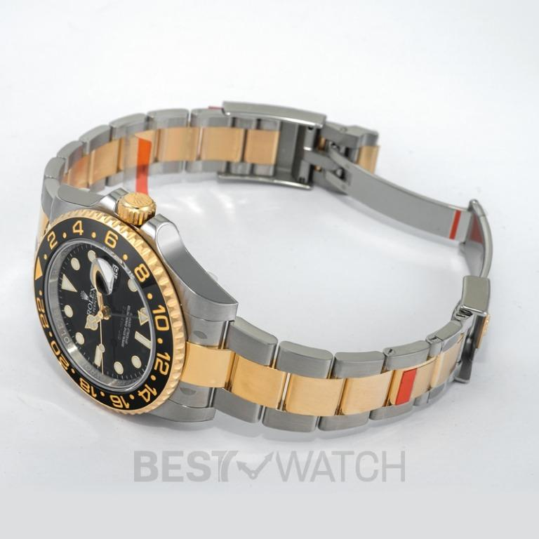 [NEW] Rolex GMT-Master II 18kt Yellow Gold  Automatic Black Dial Automatic Men's Watch 116713 LN
