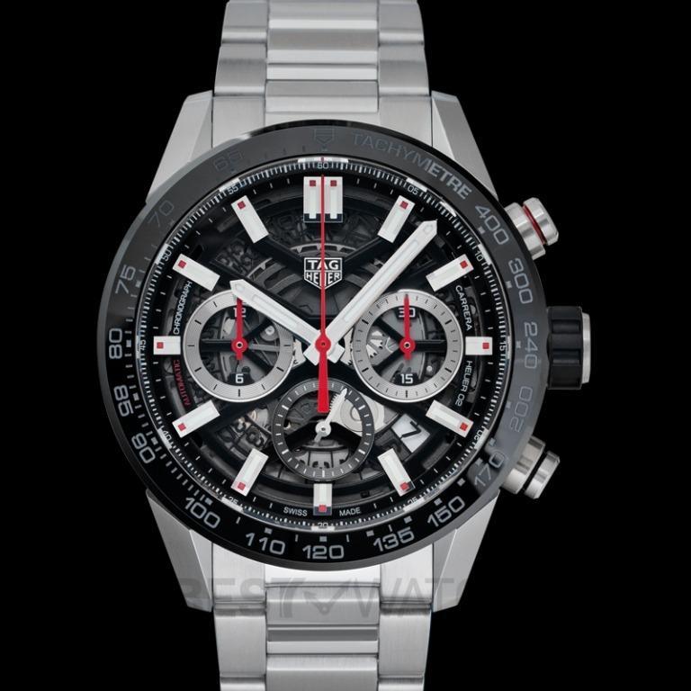 [NEW] TAG Heuer Carrera Calibre Heuer 02 Automatic Black Skeleton Dial Men's Watch CBG2010.BA0662