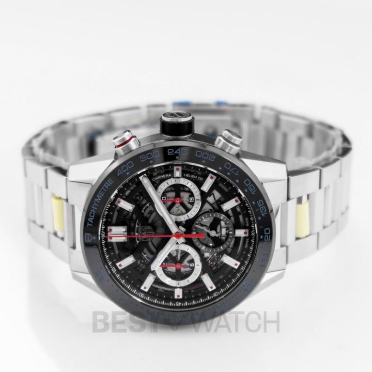 [NEW] TAG Heuer Carrera Calibre Heuer 02 Automatic Skeleton Dial Men's Watch  CBG2A10.BA0654