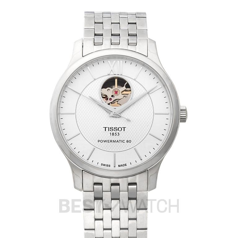 [NEW] Tissot T-Classic Tradition Powermatic 80 Open Heart Automatic Skeleton Dial Men's Watch T063.907.11.038.00