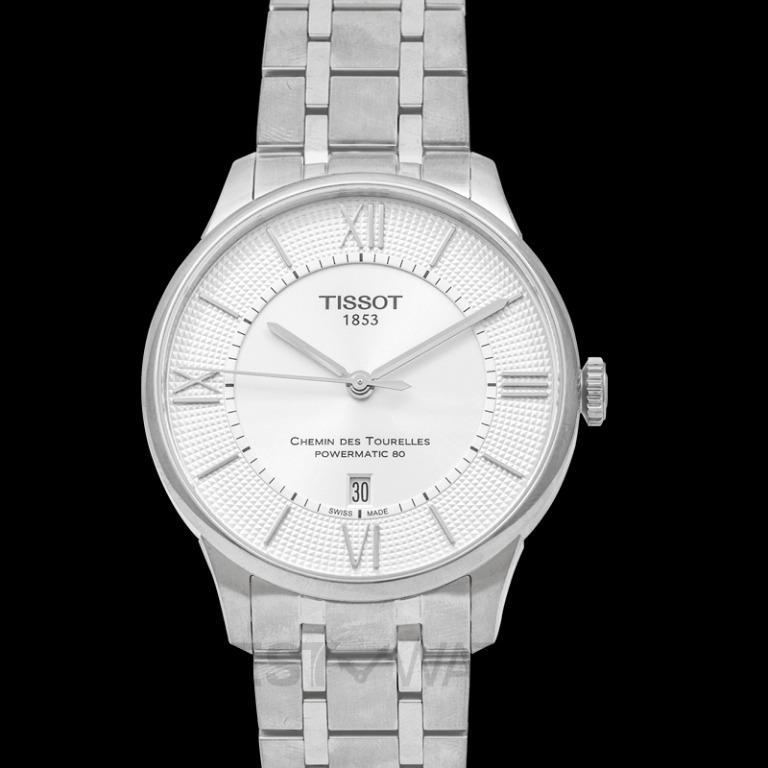 [NEW] Tissot T-Classic Chemin Des Tourelles Powermatic 80 Automatic Silver Dial Men's Watch T099.407.11.038.00
