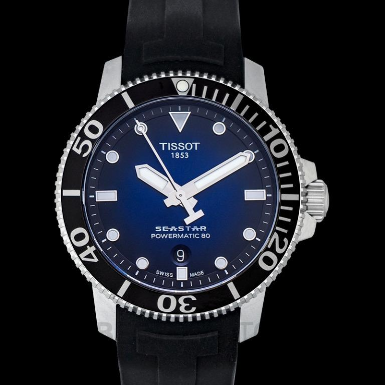 [NEW] Tissot T-Sport Seastar 1000 Powermatic 80 Automatic Blue Dial Men's Watch T120.407.17.041.00