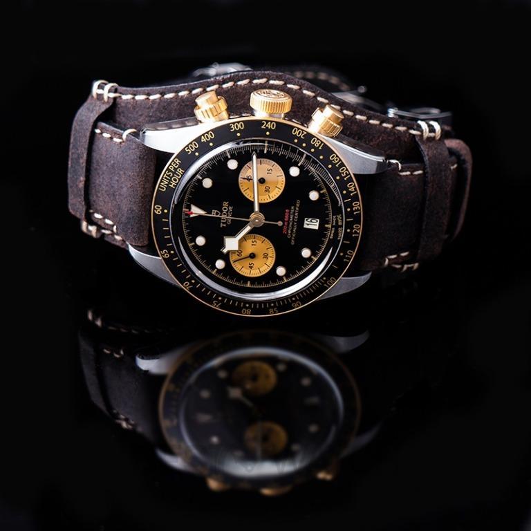 [NEW] Tudor Heritage Black Bay Chrono S&G Swiss Steel Automatic Black Dial Men's Watch 79363N-0002