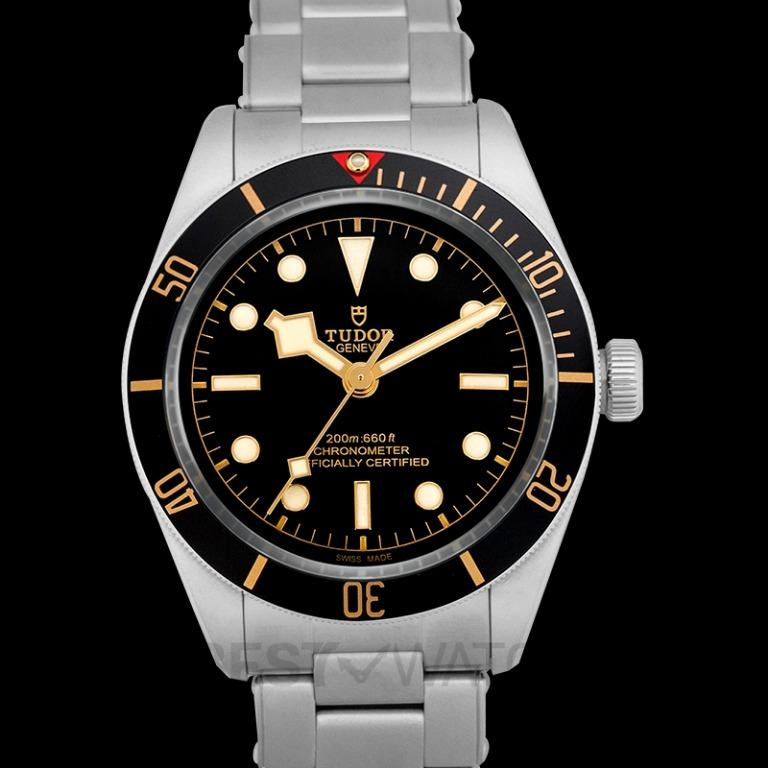 [NEW] Tudor Heritage Black Bay Fifty-Eight Stainless Steel Automatic Black Dial Men's Watch 79030N-0001
