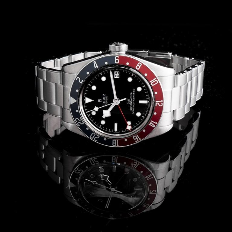[NEW] Tudor Heritage Black Bay Pepsi Blue and Red Bezel Stainless Steel Automatic Black Dial Men's Watch 79830RB-0001