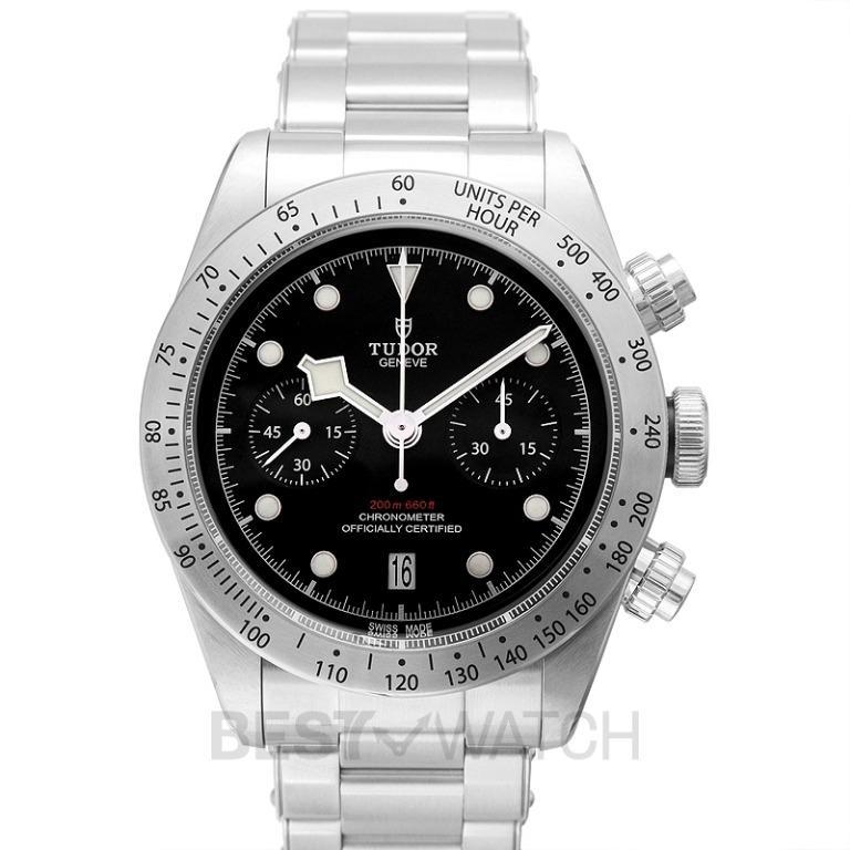 [NEW] Tudor Heritage BlackBay Chrono Chronograph Stainless Steel Automatic Black Dial Men's Watch 79350-0001