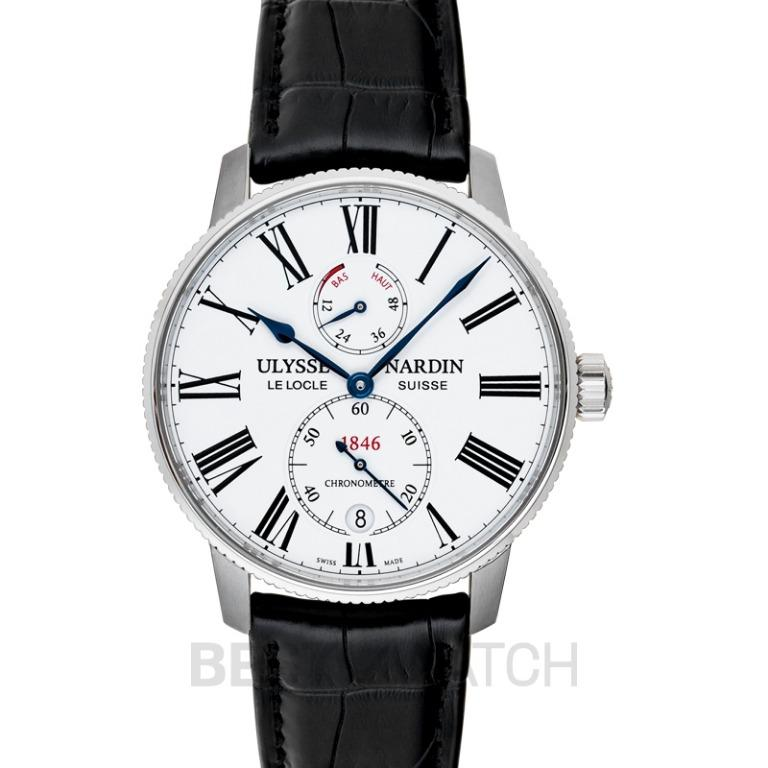 [NEW] Ulysse Nardin Marine Torpilleur Stainless Steel Automatic White Dial Men's Watch 1183-310/40