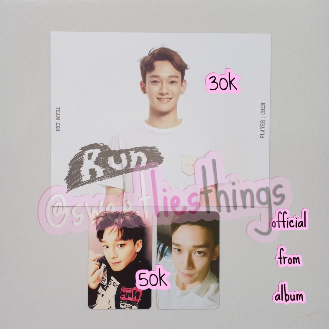 OFFICIAL PHOTOCARD / POSTCARD CHEN EXO CBX HEY MAMA STARDIUM SING FOR YOU