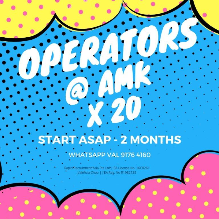Operators x 30 @ AMK [Day Shift, Min 2 Months to Long Term!]