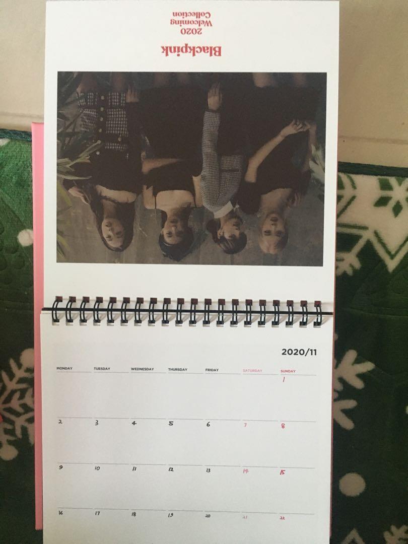 WTS BLACKPINK 2020 Welcoming Collection desk calendar