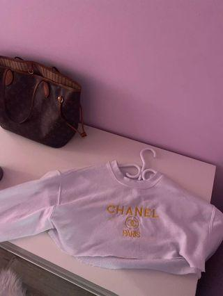 Channel hoodie sz small (cropped) :)