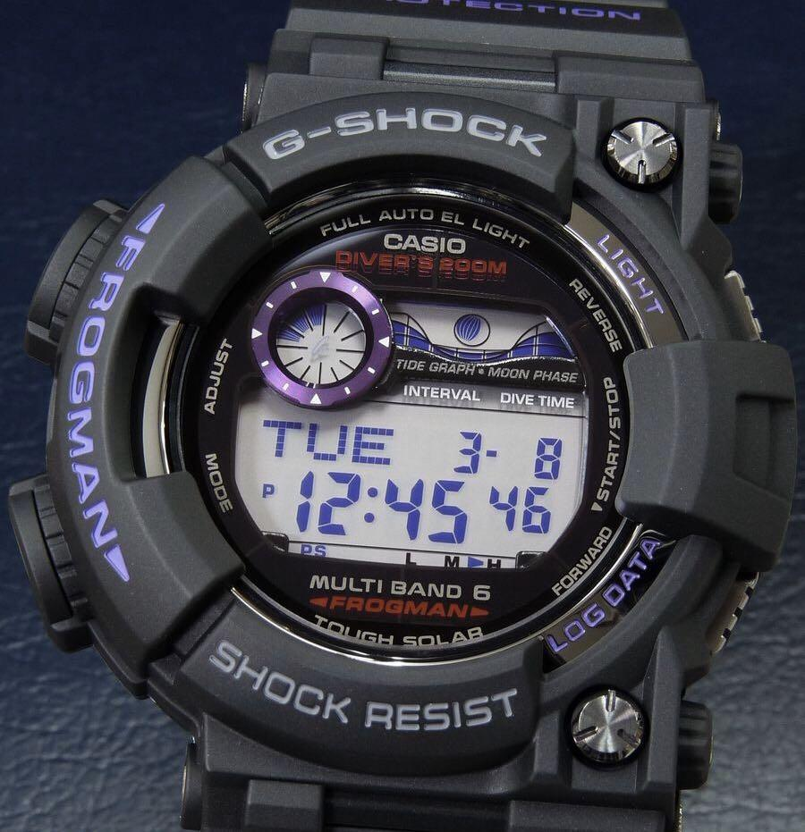 100% Authentic new Casio G-Shock Men in Purple Frogman GWF-1000BP-1 Band, Bezel & Back cover set extremely rare