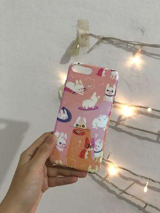 NEW!! Pink Pug Pattern Iphone 7+ / 8+ Casing