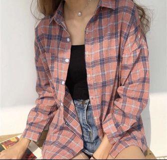 春裝格紋襯衫❤️全新