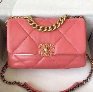 Chanel粉紅 19包