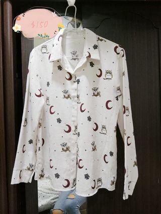 雪紡氣質森林系襯衫