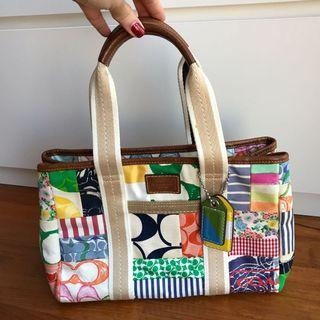 SOLD-Coach Hamptons Weekend Patchwork Tote