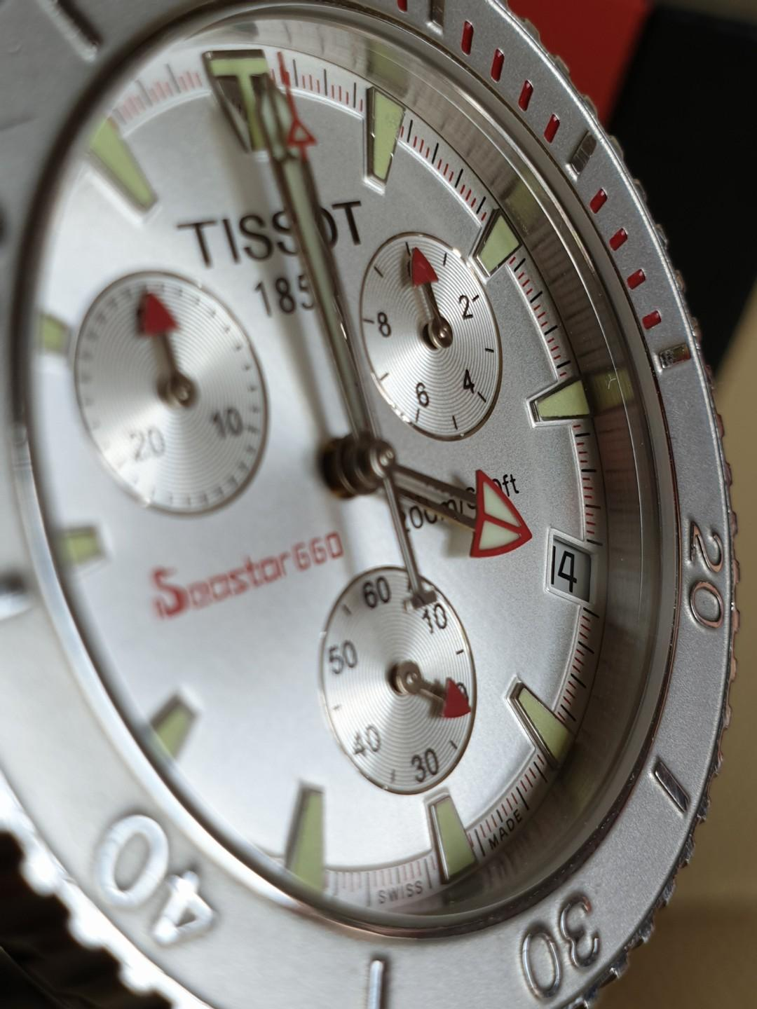Very Rare and Solid TISSOT Seastar 660 Chronograph All Silver Stainless Steel