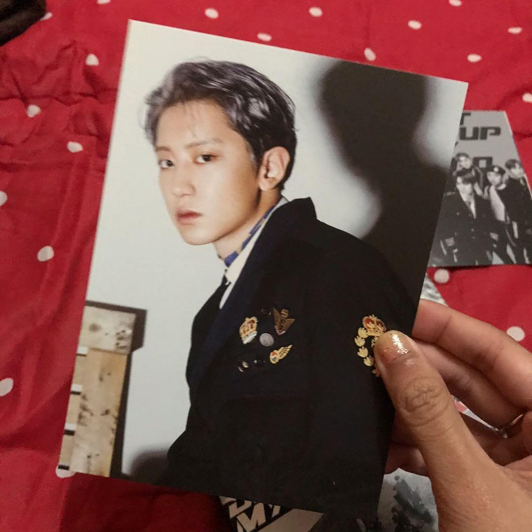 ( UNSEALED ) ALBUM EXO TEMPO ALLERGO DON'T MESS UP MY TEMPO / DMUMT SEHUN PC, CHANYOEL POSTCARD