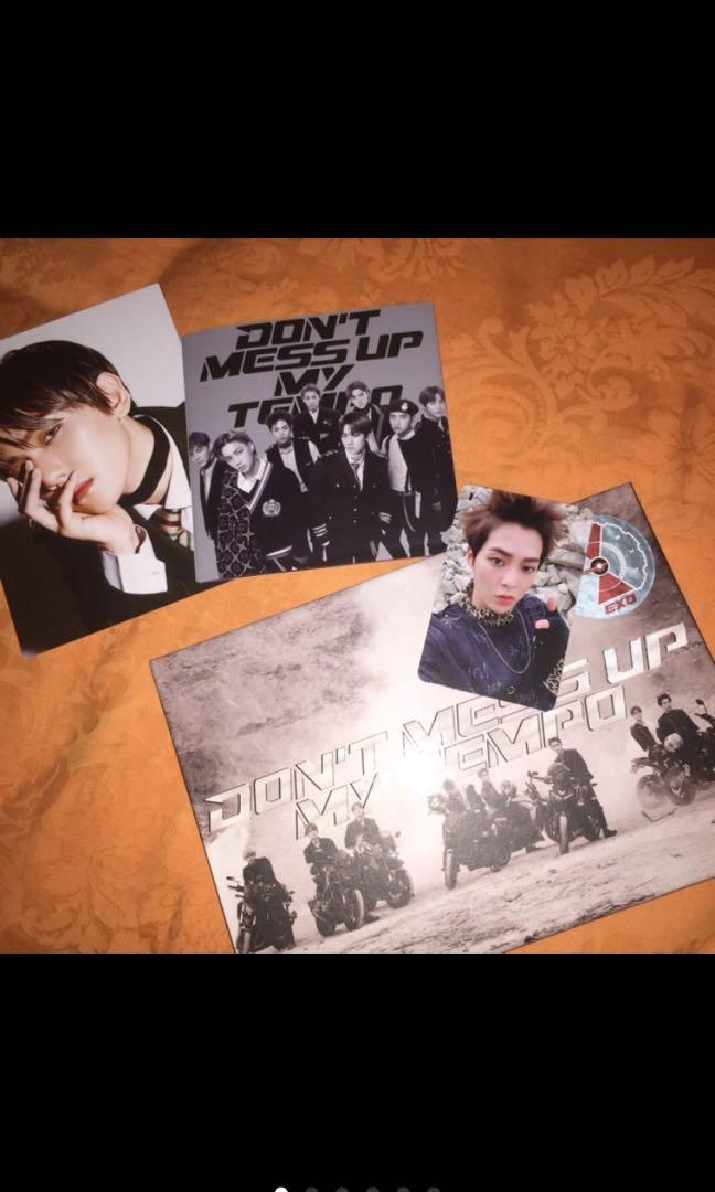 ( UNSEALED ) ALBUM EXO TEMPO ANDANTE DON'T MESS UP MY TEMPO / DMUMT XIUMIN PC
