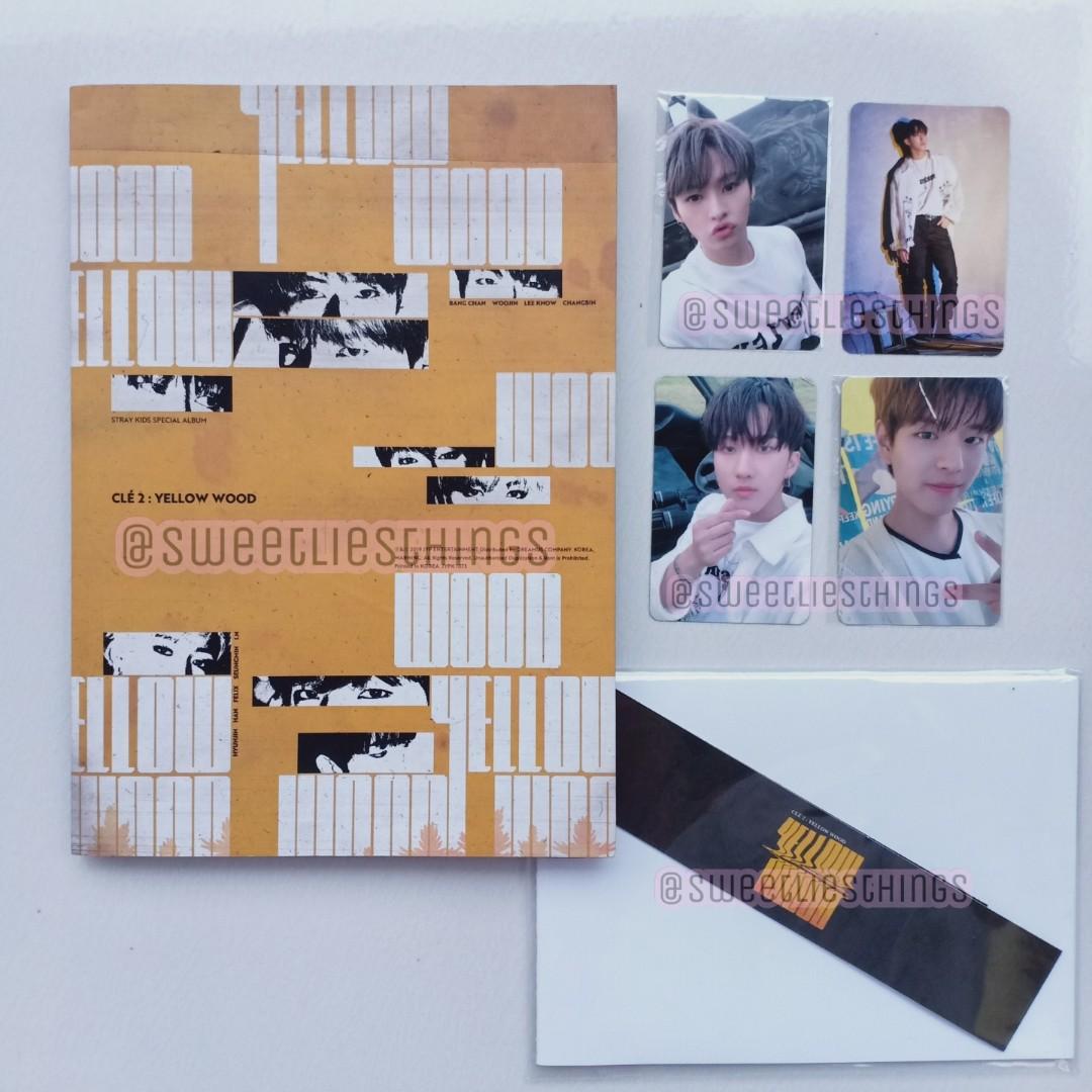 ALBUM STRAY KIDS YELLOW WOOD PHOTOCARD BANGCHAN LEE KNOW HAN JISUNG SEUNGMIN CHANGBIN I.N