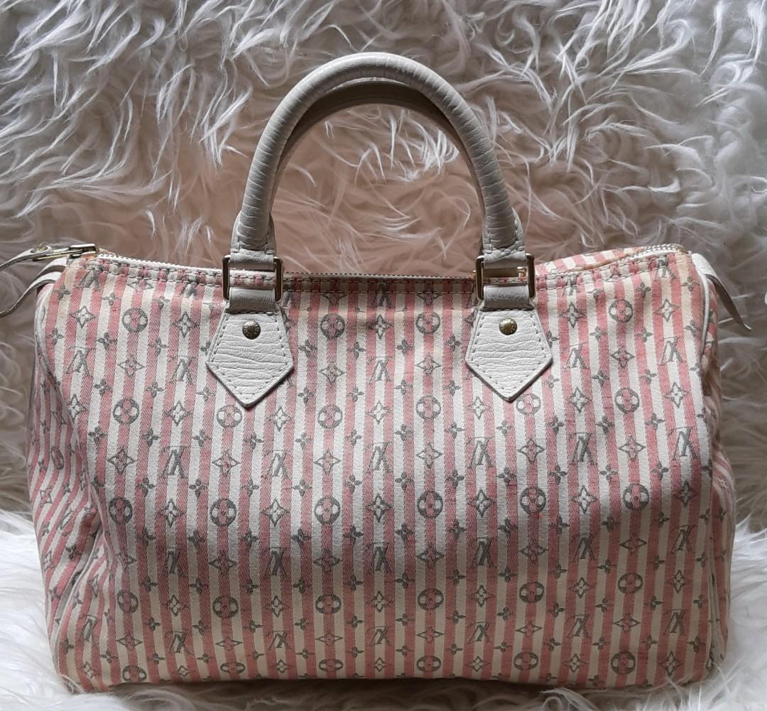 💯Authentic Louis Vuitton Minilin Pink Croisette Speedy-Rare items Sz30cm🍒🎀🎀🎀🎀🍄🍄
