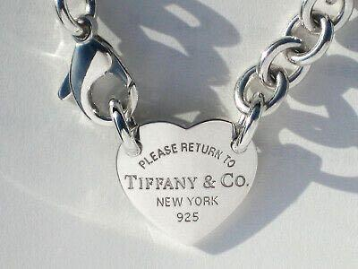 Authentic Tiffany & Co. Please Return To Tiffany & Co.Heart Tag Necklace