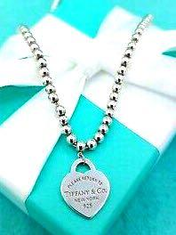 Authentic Tiffany & Co. Please Return To Tiffany &Co.  Heart Tag Beaded Necklace