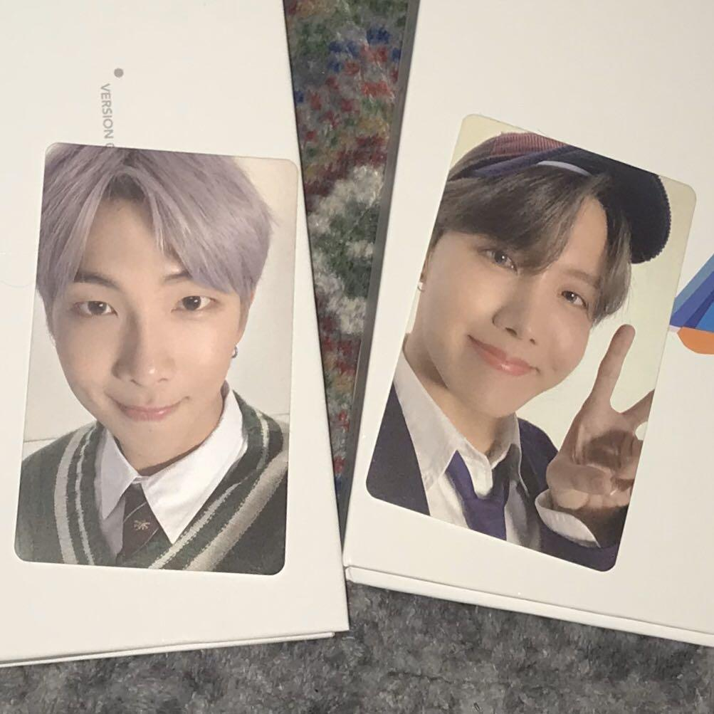‪BTS MAP OF THE SOUL 7 VERSION 4 PHOTOCARD NAMJOON RM JHOPE HOSEOK