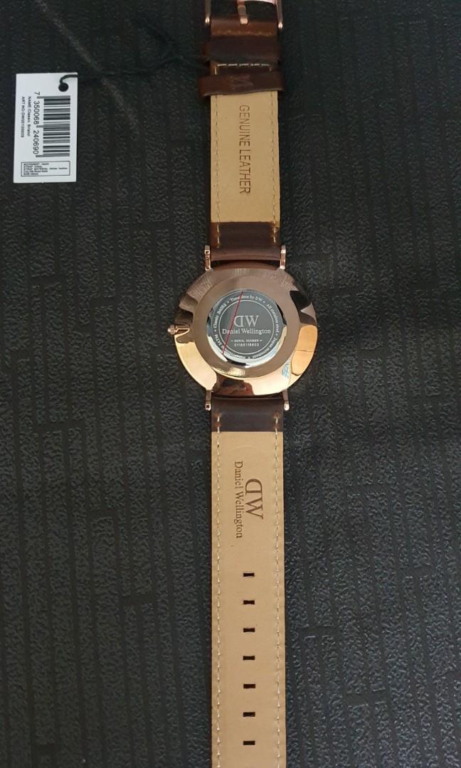 Genuine Daniel Wellington. New. Classic Bristol, 40mm Rose Gold, White Surface. Fashion Watch