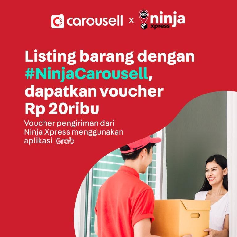Listing barang dan dapatkan voucher NinjaXpress Rp 20.000 🥳