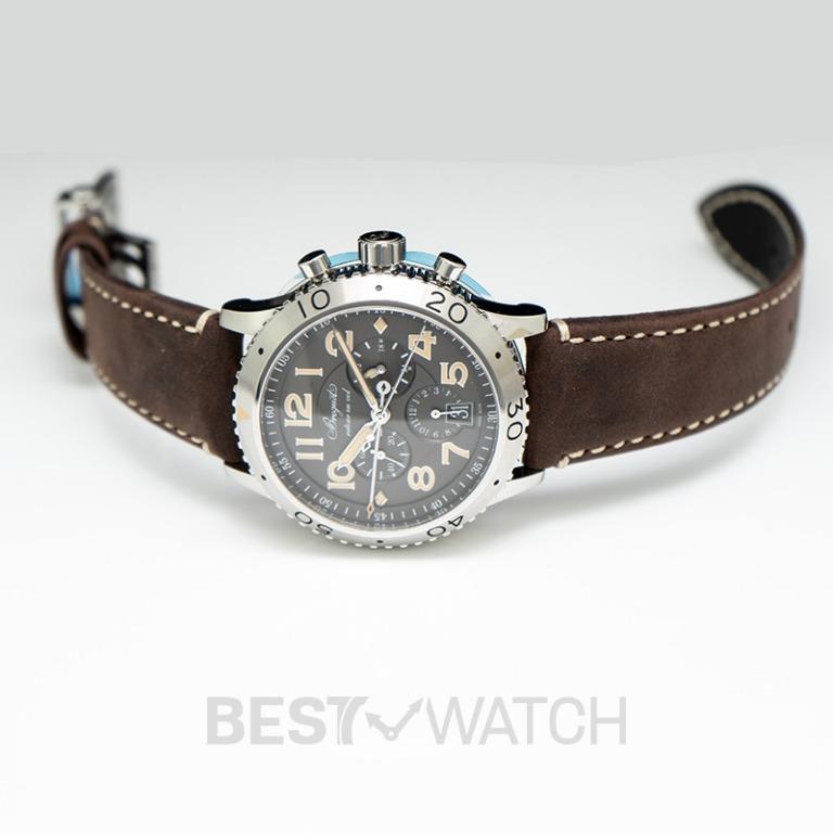 [NEW] Breguet BREGUET Transatlantique Type XXI Flyback Grey Dial Automatic Men's Watch/42mm 3817ST/X2/3ZU