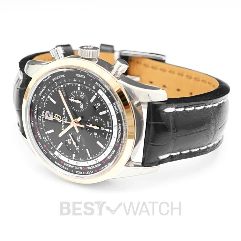 [NEW] Breitling Transocean Unitime Pilot World Time Chronograph Automatic Black Dial Men's Watch UB0510U4/BC26