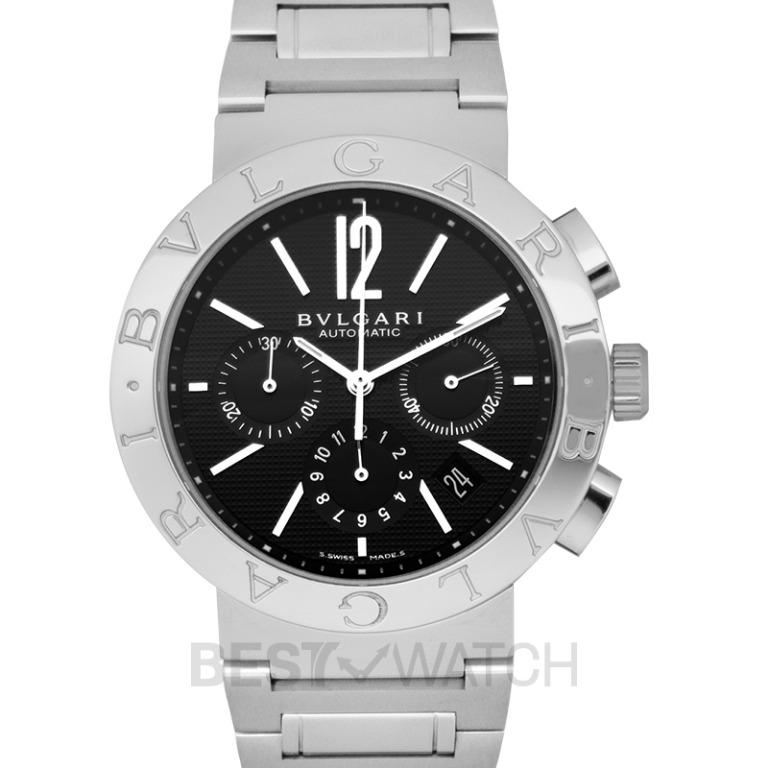 [NEW] Bvlgari Bvlgari Chronograph Automatic Black Dial Stainless Steel Men's Watch/42mm BB42BSSDCH 101560