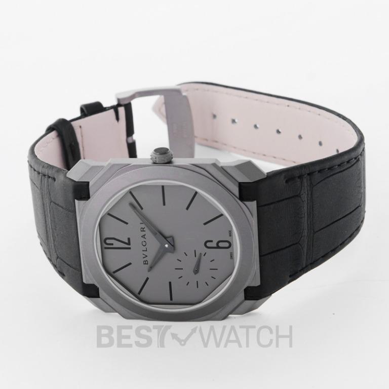[NEW] Bvlgari Bvlgari Octo Finissimo Extra Thin Automatic Grey Dial Men's Watch 102711 102711