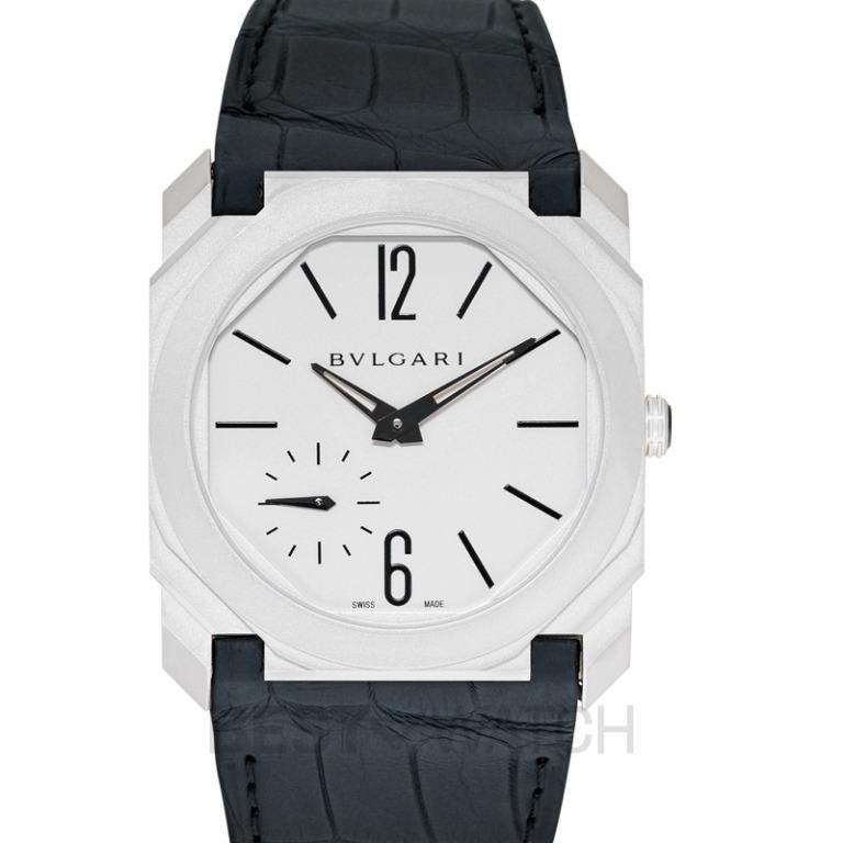 [NEW] Bvlgari Octo Finissimo Extra Thin Automatic Silver Dial Stainless Steel Men's Watch 103035