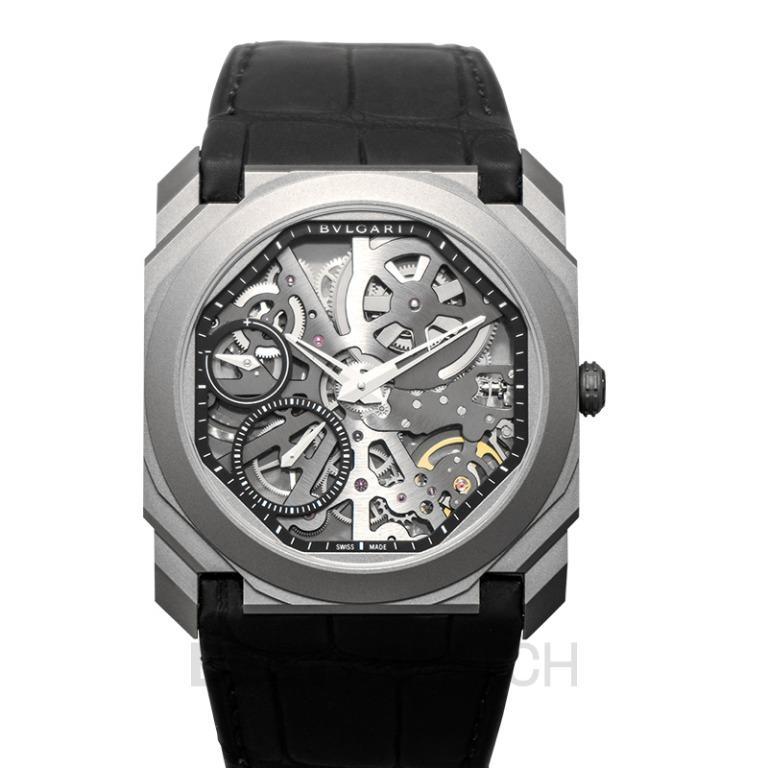 [NEW] Bvlgari Octo Finissimo Extra Thin Manual-winding Skeleton Dial Titanium Men's Watch 102714