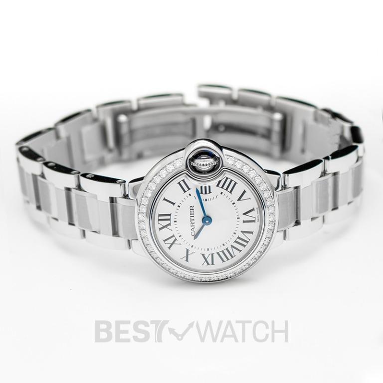 [NEW] Cartier Ballon Bleu de Cartier 28 mm Quartz White Dial Stainless Steel Ladies Watch W4BB0015