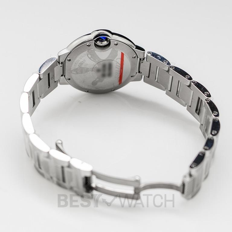 [NEW] Cartier Ballon Bleu de Cartier 33 mm Automatic Silver Dial Stainless Steel Ladies Watch W4BB0016