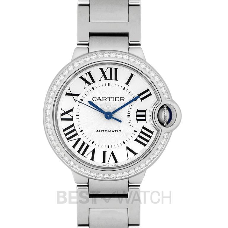 [NEW] Cartier Ballon Bleu de Cartier 36 mm Automatic Silver Dial Stainless Steel Ladies Watch W4BB0017
