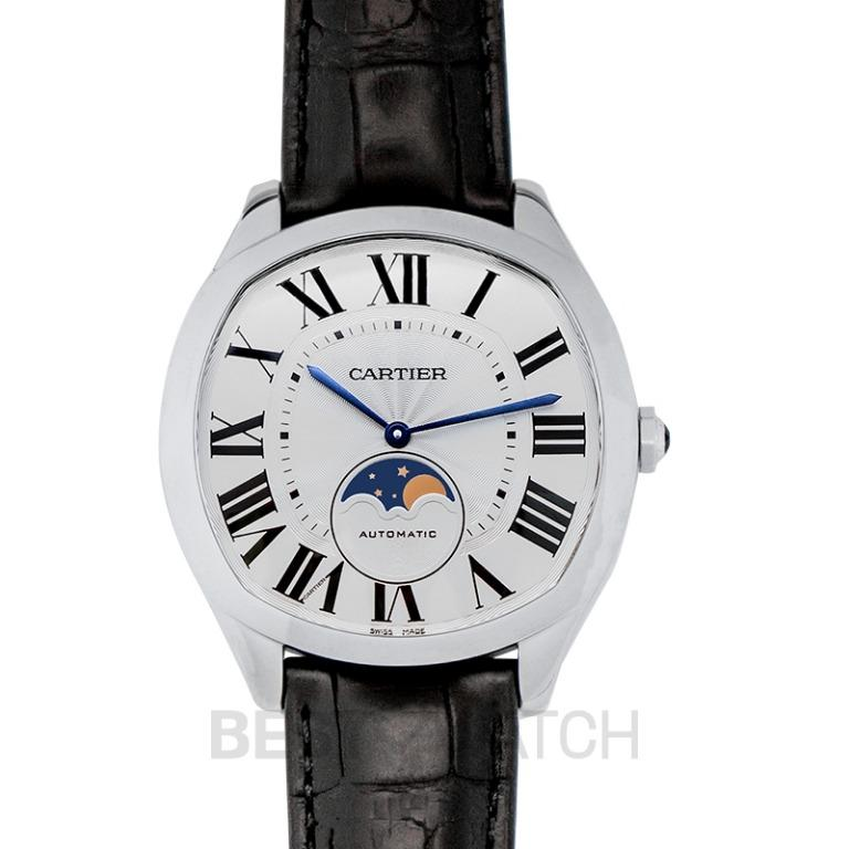 [NEW] Cartier Drive de Cartier Moon Phases 40 mm Automatic Silver Dial Stainless Steel Men's Watch WSNM0008