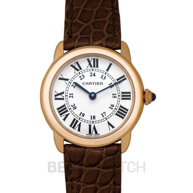 [NEW] Cartier Ronde Solo de Cartier 29.5 mm Quartz Silver Dial 18kt Pink Gold and Stainless Steel Ladies Watch W6701007