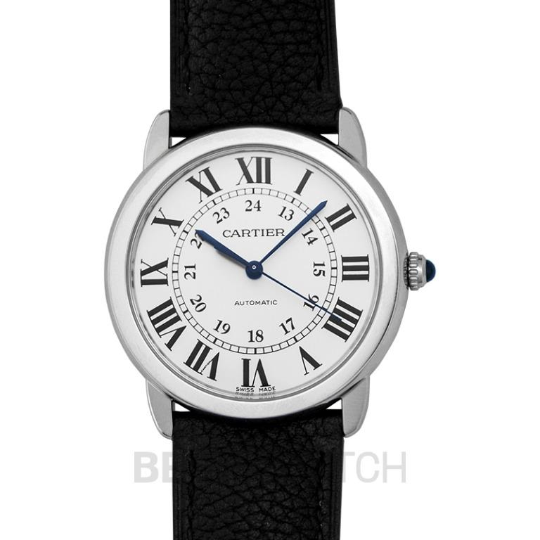 [NEW] Cartier Ronde Solo de Cartier 36 mm Automatic Silver Dial Stainless Steel Ladies Watch WSRN0021