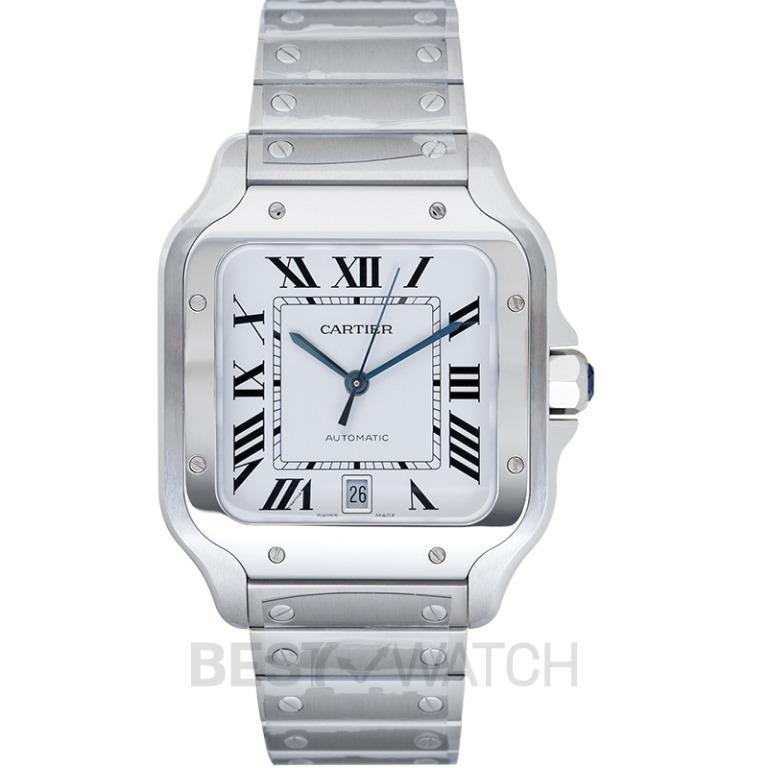 [NEW] Cartier Santos de Cartier 39.8 mm x 47.5 mm Automatic Mother of pearl Dial Stainless Steel Men's Watch WSSA0009