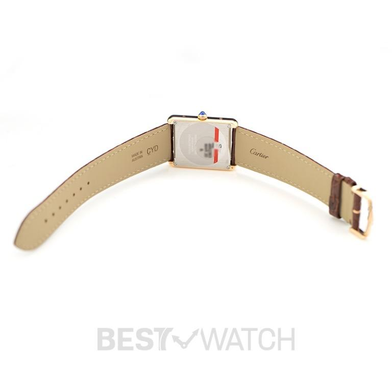 [NEW] Cartier Tank Solo 34.8 mm Quartz Silver Dial 18Kt Rose Gold and Stainless Steel Ladies Watch W5200025