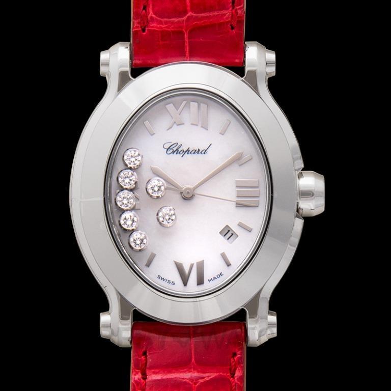 [NEW] Chopard Happy Sport Oval Quartz Mother of pearl Dial Diamonds Ladies Watch 278546-3005