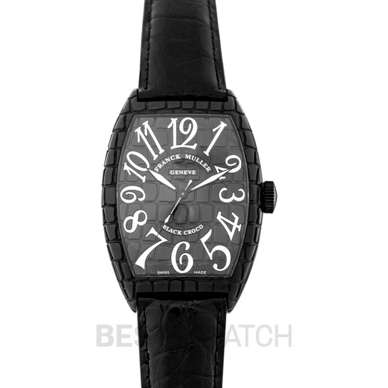 [NEW] Franck Muller Franck Muller Cintree Curvex Black Automatic Watch 39mm 8880 SC BLKCRO AC